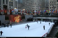 Photo by elki | New York  Rockfeller rink